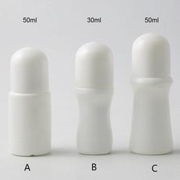 2019 bottiglie di plastica deodoranti 24 x 30ml rullo esterna Container 50ml vuoti semplice PP Plastic Roll On Bottiglie Roller sfera di plastica portatile di viaggio deodorante sconti bottiglie di plastica deodoranti