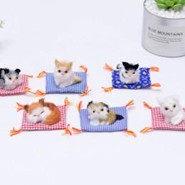 baby boy llaveros Rebajas Felpa hecha a mano animales dos gatos y paño cojín de peluche lindo juguete para el regalo de cumpleaños del niño o la decoración del coche