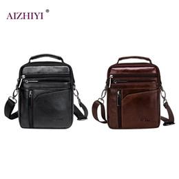 Men Solid Color Leather Shoulder Bags Small Crossbody Satchel Bag for Man  Business Messenger Pack Male Travel Handbags New f79ddcd6f7240