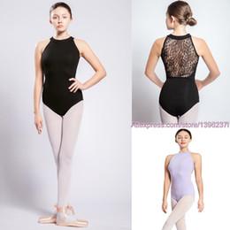 2019 costume del robot Ginnastica Body Donne 2019 nuovo arrivo Danza classica collo alto in pizzo nero del costume di ballo di usura di ginnastica Body