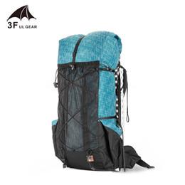 Zaino da trekking resistente all'acqua 3F UL Gear Zaino da campeggio leggero Zaino da viaggio per alpinismo Zaini da trekking 40 + 16L supplier backpacking packs da pacchetti backpacking fornitori