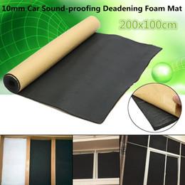 Paneles de aislamiento acústico online-El ruido Acoustic Panel automático de aislamiento de espuma de 10 mm estera de amortiguación capo coche autoadhesivo bloqueo bloque de goma accesorio interior del coche