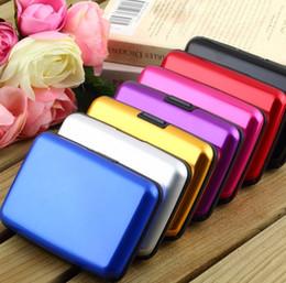 Carteira RFID Bolso À Prova De Água de Negócios ID de Cartão De Crédito De Metal Caso Titular Cartão de Arquivos De Alumínio de