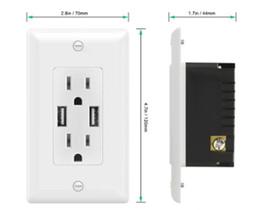 filtro elétrico Desconto AIAWISS Smart Ultra Alta Velocidade 4A USB Charger Outlet 15 AmpTR Receptacle | Placas de parede sem parafusos, branco