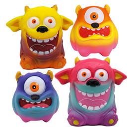 Squishy One-eyed Monster Toy Slow Rising Suave Oversize Squeeze Toys Colgante Anti Estrés Kid Cartoon Descompresión Toy 6 estilos GGA2432 desde fabricantes