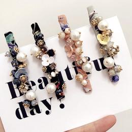bandeau cheveux frange Promotion Corée Rétro Fleurs Boule Cristal Côté Bangs Clip Accessoires De Cheveux Jante Pinces À Cheveux Pour Les Femmes Épingle À Cheveux Arcs Bandeau -4