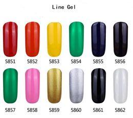Линейный гель онлайн-ОПТ Новое поступление 12 цветов Mei-charm nail line гель 16 мл 0.55fl.oz инструмент для красоты ногтей