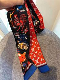 Wholesale Cravate de sac à main en nylon de marque de mode en gros de foulard en soie pour femmes