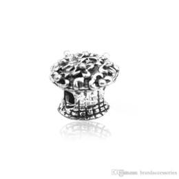 Granos flojos europeos de plata Bouquet de cobre Agujero Spacer Beads Se adapta a Pandora Charms Pulseras Collar colgante DIY Accesorios de joyería HJ18 desde fabricantes