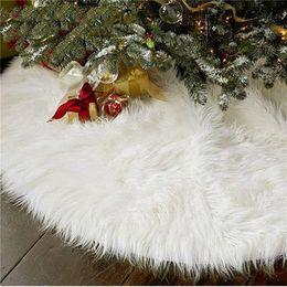 2019 mini alberi di natale azionati da batteria 31/48 pollici albero di Natale peluche gonna decorazioni per Merry Christmas Party Faux Fur albero di Natale Gonna Tatuaggi