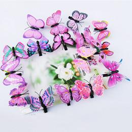 Faux papillons volants en Ligne-50 pcs Fée Faux Papillon Épingle À Cheveux Woodland Fête Favor Kid Barrette Mignon Fête À Thème Filles Animal Volant Papillon Cheveux Clip