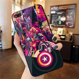 couverture en silicone pour fers Promotion Film Avengers 4 Final Battle Couvre Coque Mobile Iron Man Captain America Coquille Mobile