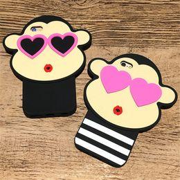 tampas do telefone do macaco Desconto Capa protetora de silicone dos desenhos animados cão Astro Boy grande boca macaco iphone6 para 7 plus Apple mobile phone case protetor