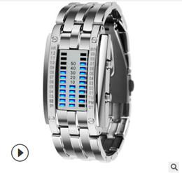 skmei ver mujeres Rebajas Venta directa de la pantalla del reloj del deporte Nueva SKMEI creativo LED para los tiempos de la correa de acero inoxidable Relojes Hombres Mujeres 5bar 50mm Digital impermeable Watch2.0
