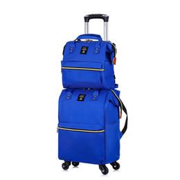 Deutschland Oxford Stoffkoffer, Nylon-Koffer, Fashion Trip Bag, Universal-Rad Hochwertiger zweiteiliger Paketballen supplier high wheel fashion Versorgung