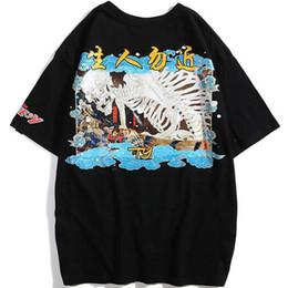 d944bb23af cráneo para hombre Rebajas Estilo japonés Harajuku cráneo impreso camisetas  Hip Hop Streetwear 2019 para hombre