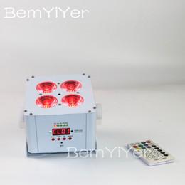 Argentina Par LED iluminación hacia arriba la boda 1pc batería inalámbrica alimentada DMX IR 4x18W + RGBWA 6en1 UV para el partido, club, KTV Suministro