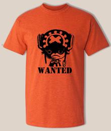 Anime de uma peça camiseta on-line-One piece T-Shirt, chopper Wanted, tripulação chapéu de palha pirata, Luffy legal anime Camisa Engraçado frete grátis Unisex Casual Tshirt