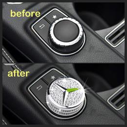 Mercedes CLA200 GLA 220 260 A Sınıfı A180 B Sınıfı İmitasyon Diamond Multimedia Kontrol Düğmesi Metal Kasa Kapak Sticker nereden futbol bilezikleri tedarikçiler