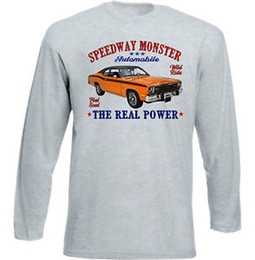 Polveri di cotone online-VINTAGE AMERICAN CAR Plymouth Duster NEW COTTON T