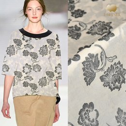 145 cm Jacquard vestido de tela de seda forro diy tela de lino jacquard material de seda china tela al por mayor desde fabricantes