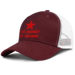 Tampas da máquina on-line-Rage Against The Machine Borgonha para homens e mulheres estilos de bola de boné de caminhão personalizados chapéus personalizados