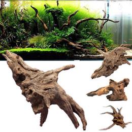 Troncos de madeira on-line-Estilo aleatório tanque de peixes troncos tronco natural driftwood aquário tanque de peixes de fábrica aquário decoração afundando madeira habitat paisagismo