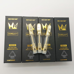 Olio d'oro online-Cartucce penna West Coast Cure 1.0ml 0.8ml Curepen Vape Carts Olio spesso 510 Filo Oro Cartucce vuote Vape