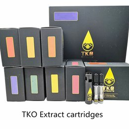 TKO estratto cartucce Vape penna bobina ceramica 2.0mm di spessore cartuccia dell'olio vaporizzatori 0,8 ml 510 e sigarette Serbatoio vuoto da bobine zephyrus fornitori