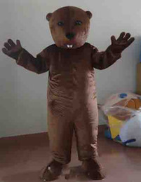 Traje marrom rato on-line-new Brown Marmota Mascot Costume Adult Size mouses Mascotes Xmas Party Dress