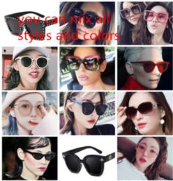 2019 óculos de sol de plástico redondos de amarelo 14 estilos designer de óculos de sol 2019 moda das mulheres dos homens óculos de sol óculos de grife para mulheres mulher homens homem MNYJ4-5