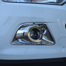 ford ecosport accesorios Rebajas Foal Burning ABS Chrome Car Fog Lamp Lámparas Cubierta de protección Etiqueta para Ford Ecosport 2013 2014 2015 2016 2017 Accesorios