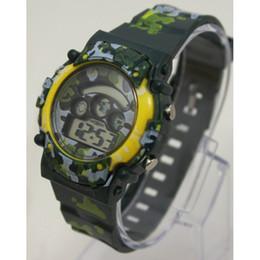 relojes de colores a prueba de agua Rebajas Camuflaje pequeño reloj de iluminación colorido multifunción reloj luminoso colorido deportivo reloj electrónico impermeable