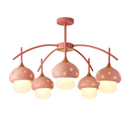 Argentina Luces colgantes led lámparas colgantes para forma de seta creativa dormitorio para niños Nordic retro techo colgante de madera arañas lightin Suministro