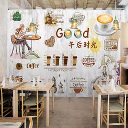 2019 papel fotográfico em fibra Murais de parede papel de parede personalizado 3d Casual tarde tempo coffee shop mural papel de parede papéis de parede de decoração para casa papel de parede café decor mural