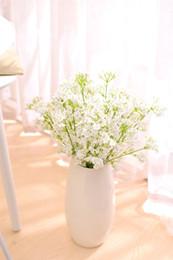 Plantando peônia on-line-Artificial Peony Flower 2 bifurcada estrelas Gypsophila flor de seda Falso Planta Início Wedding Decoração Fontes do partido flor de seda EEA527