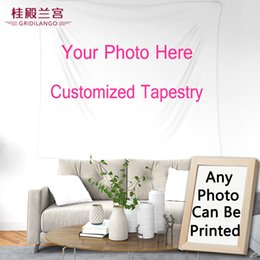GRIDILANGO Diseño Personalizado Tapiz Colgante de Pared Foto por Encargo Impreso en Sábana Estera de Yoga Decoración para el hogar con Marco de fotos desde fabricantes