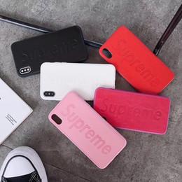 stampa di copertina posteriore mobile Sconti FAMOSA Indietro Cassa del telefono mobile Shell per IPhoneX XS MAX XR 8P 7P 6sPlus Lettera Stampa del cellulare Anti-scrach Cover per IPhoneX 8 7plus
