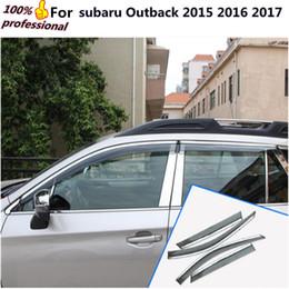 mitsubishi gear Promotion Détecteur de couverture de voiture en plastique fenêtre en verre Wind Visor pluie / Sun Guard Vent moulage 4pcs pour Outback 2015 2016 2017