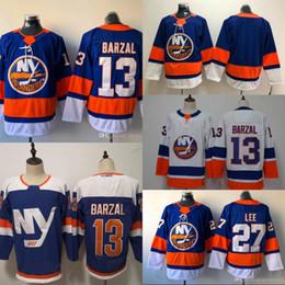 9a5e11a1cd7 13 Mathew Barzal Mens New York Islanders 2018 Terza terza alternativa 27  Nick Leddy Hockey Maglie Alta quanlity IN AZIONE