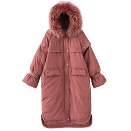 Uzun Kore Gevşek Parka 2018 Kalın Pamuklu Giysiler Büyük Boy Büyük Saç Yaka Palto Pamuk Yastıklı Kış Ceket WomenJ410 nereden