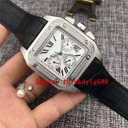 2019 мужские большие наручные часы серебро Сталь 316L Алмазные Классический площади Большой Мужские часы белый циферблат Автоматический серебро сапфир римские цифры черный телячья ремешок Дизайнерские часы скидка мужские большие наручные часы серебро