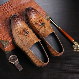 5adf331a7c5 2019 мужская итальянская обувь для офиса 2019 новый роскошный бренд моды  для мужчин кисточкой мокасины обувь