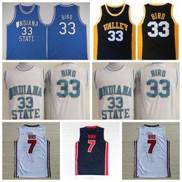 71b7795ac NCAA College Indiana State Sycamores Larry Bird Jersey 33 Men High School 1992  USA Dream Team One 7 Larry Bird Basketball Jerseys White discount usa ...