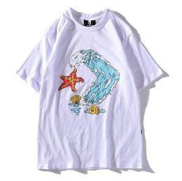 Post de modelos online-Free post 19 deportes y ocio estrella flecha grafiti impresión transpirable manga corta impresión de surf estrella de cinco puntas camiseta modelos de pareja