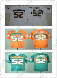 bc9c43460 Cheap wholesale NEW Miami Hurricanes Ray Lewis #52 College Football Jersey  Stitched high quality