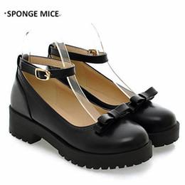 zapatos de jane Rebajas 2017 Nuevos Zapatos Salvajes Japoneses Solos Arco Lolita Zapatos de Mujer Boca Baja Mary Jane Shoes Estudiante