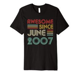 i compleanni di giugno Sconti 12 ° compleanno regalo fantastico Dal Premium T-shirt giugno 2007