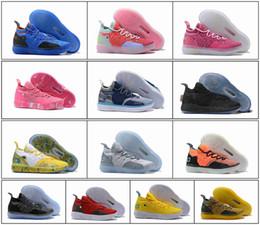 2019 новые мужские 11 низкий черный обувь белый красный серый 11С 35 Кевин Дюрант спортивная обувь низкий на открытом воздухе КД 11 мужские баскетбольные кроссовки обувь от