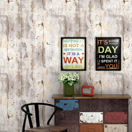shop country kitchen Promo Codes - Vintage nostalgic fashion industrial style loft wallpaper cyber hairdressing clothing shop coffee restaurant plain cement gray wallpaper